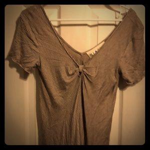 Hiatus short sleeve blouse size small pink/green